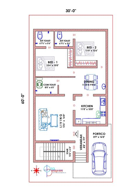 south facing vastu plan duplex house plans  house