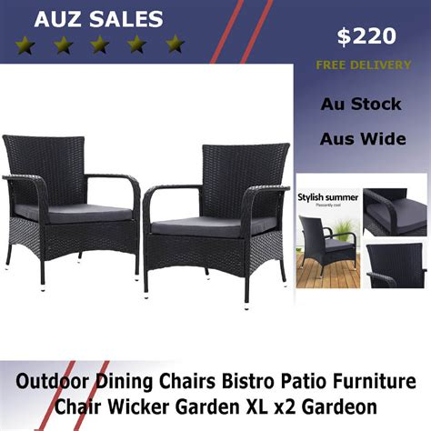 outdoor dining chairs bistro patio furniture chair wicker