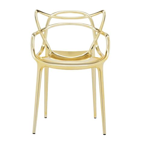 chaise masters kartell buy the kartell masters metallic chair utility design uk