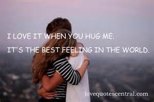 When You Hug Me Quotes