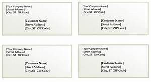 Package shipping label template images for Package address label template
