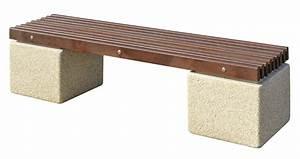 Table Exterieur En Bois : banc d 39 ext rieur balisier en bois et b ton granifin dordogne ~ Teatrodelosmanantiales.com Idées de Décoration