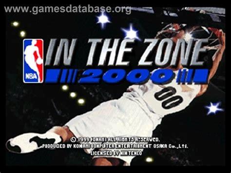 nba zone 2000 n64 nintendo title screen game usa games konami rom