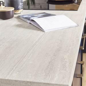 Plan De Travail Chene Blanchi : plan de travail stratifi effet travertin beige mat ~ Premium-room.com Idées de Décoration