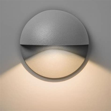 tivoli ip65 outdoor led recessed wall light in painted