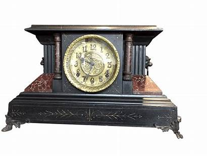 Mantel Clock Antique Ingraham Clocks Wooden Case