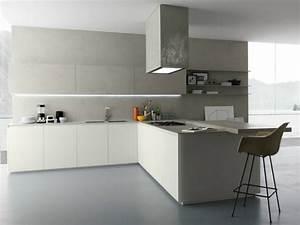 cuisine gris clair et blanc maison design bahbecom With cuisine blanc et gris