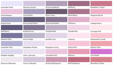 shades of purple paint chart www imgkid the image