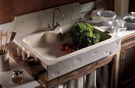 lavello rustico lavello cucina massello in travertino classico scavato in