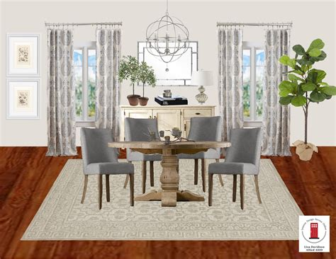 Transitional Grey And Cream Dining Room By Interior Design