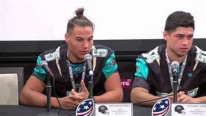 Christopher High football team at 49ers media day - YouTube