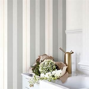 Elegante streifentapete von sandberg aus schweden for Balkon teppich mit elegante tapeten