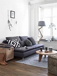 Graue Couch Wohnzimmer : die graue wandfarbe 43 interieur ideen damit ~ Michelbontemps.com Haus und Dekorationen