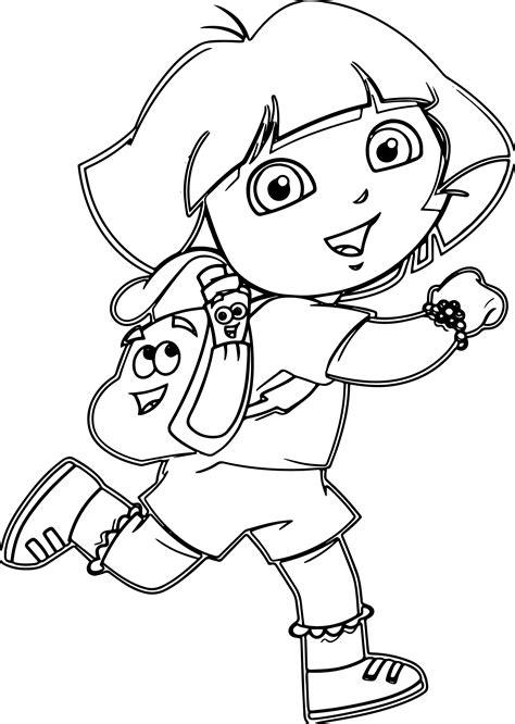 dora cartoon games coloring pages wecoloringpagecom