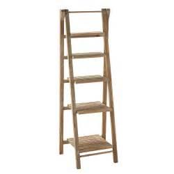 Bathroom Storage Shelf Units by Wooden Ladder Shelf Unit W 46cm Freeport Maisons Du Monde