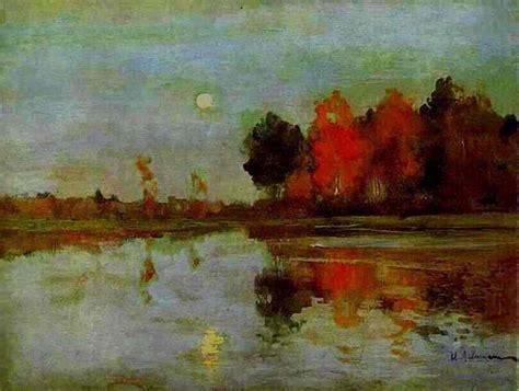 The Twilight. Moon. - Isaac Levitan - WikiArt.org ...