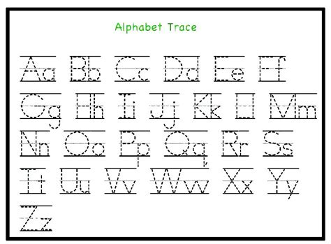 tracing letters template printable tracing letters template for preschool kindergarten