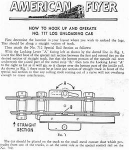American Flyer Log Unloading Car 717 Instructions