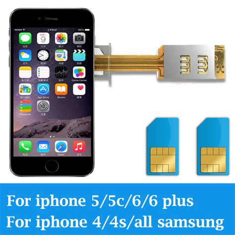 iphone 5 sim card slot dual 2 sim card adapter slot for for android for iphone 4