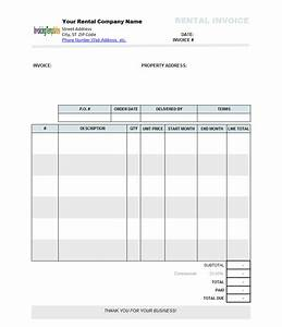 rental invoice template excel project management With rental invoice template