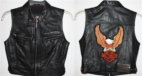 Harley Davidson Leather Vest Womens Xs Biker Motorcycle
