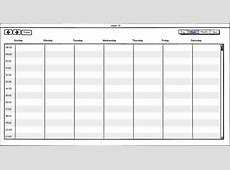 Week Calendar yearly calendar template