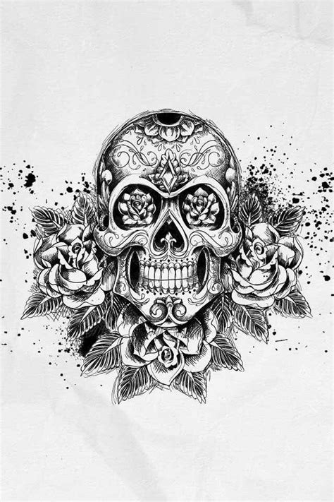 Skull art | Random things I like | Tatuagem, Tatuagem masculina e Desenhos do caveira