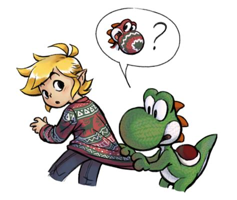 My Art Link Legend Of Zelda Yoshi Crossovers Yoshis