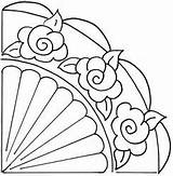 Fan Hand Embroidery Drawing Templates Patterns Fans Rose Coloring Template Printable Colouring Desenleri Quilting Stencils Aplike Church Getdrawings Applique Drawings sketch template
