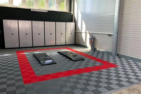 pvc fliesen garage garagenboden aus kunststoff mit klicksystem