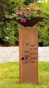 Dekosäule Mit Schale : rosts ule mit herz gedicht angels garden dekoshop ~ Sanjose-hotels-ca.com Haus und Dekorationen