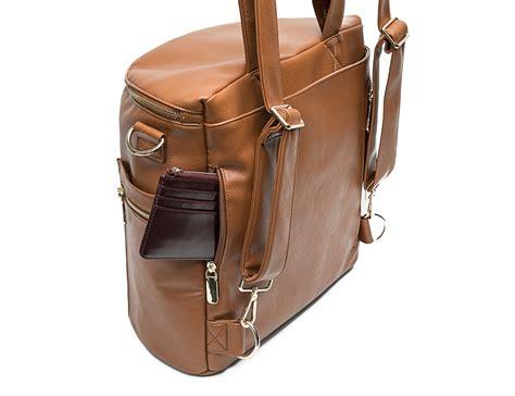 brown leather diaper bag backpack   fong diaper bag organizer