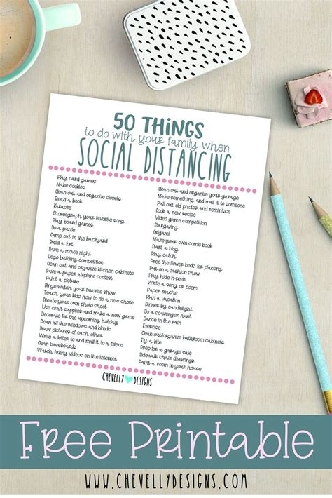 {FREEBIE} 50 Things To Do With Your Family When Social