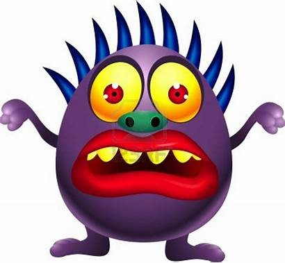 Monsters Scary Funny Monster Cartoon Purple