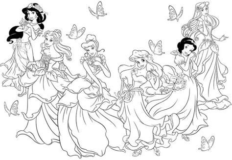 giochi da colorare principesse le principesse disney da colorare