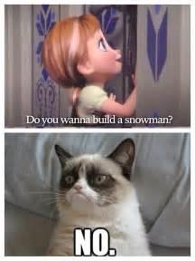 grumpy cat frozen meets grumpy cat humor