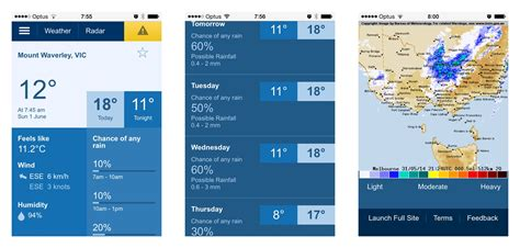 bureau weather how does the bureau 39 s mobile weather site stack up