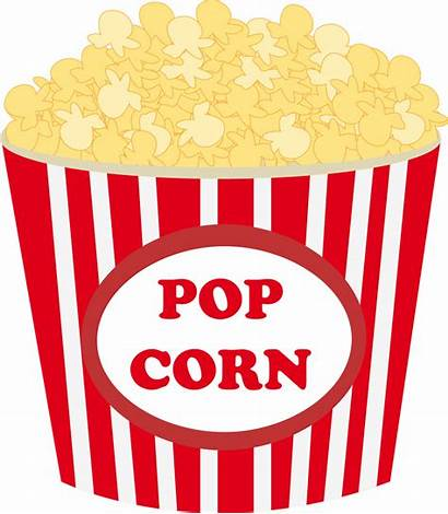 Popcorn Clipart Clip Transparent Spilled Movies Theater