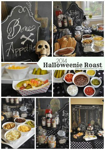 halloweenie roast  hot dog bar  homebased mom