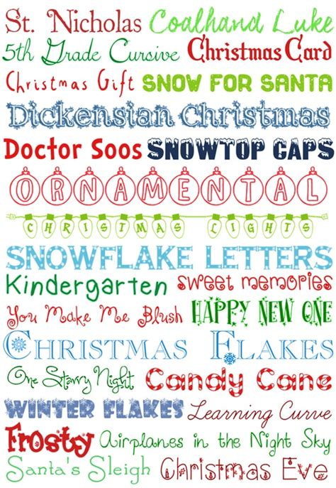 christmas  fonts   nest