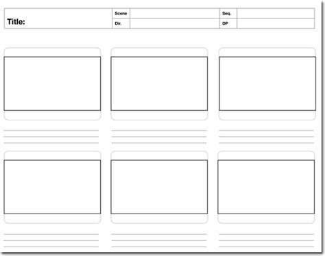 animation storyboard template 36 free storyboard templates for basic visual and digital animation