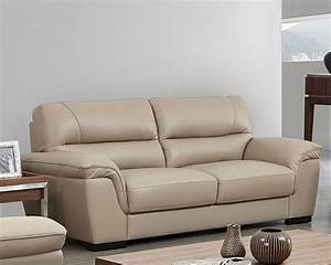 Modern, Leather, Sofa, In, Beige, Color, Esf8052s