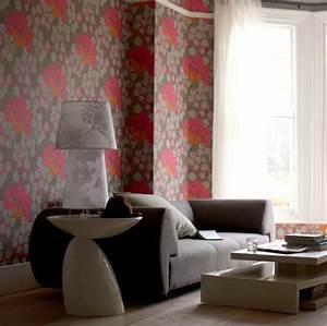Wohnzimmertapete neue vorschlage fur jeden geschmack for Markise balkon mit tapete braun rosa