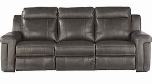 119999 oxford street slate gray leather sofa for Furniture oxford sectional sofa