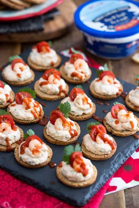 dip canapes goat cheese shrimp dip and canapés the healthy foodie