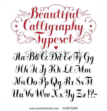 brush lettering alphabet calligraphy alphabet stock images royalty free images 22082