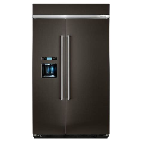 48 Cabinet Depth Refrigerator by Kitchenaid 48 In W 29 5 Cu Ft Built In Side By Side