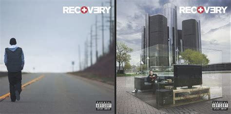 eminem reveals  recovery album covers  features