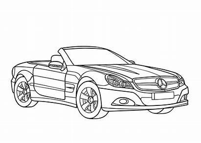 Mercedes Coloring Cool Class Printable Cars Cabrio