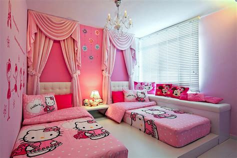 Paris Themed Bathroom Pictures by 15 Hello Kitty Bedrooms That Delight And Wow